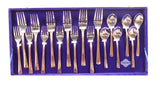 Steel Copper Cutlery Set, Tableware & Dinnerware Set, 36 Pieces
