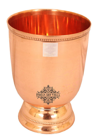 Copper 2 Wine Glass Tumbler with 4 Shot Jiggers Glass,  Barware Set, Best for Parties, 4 Pieces