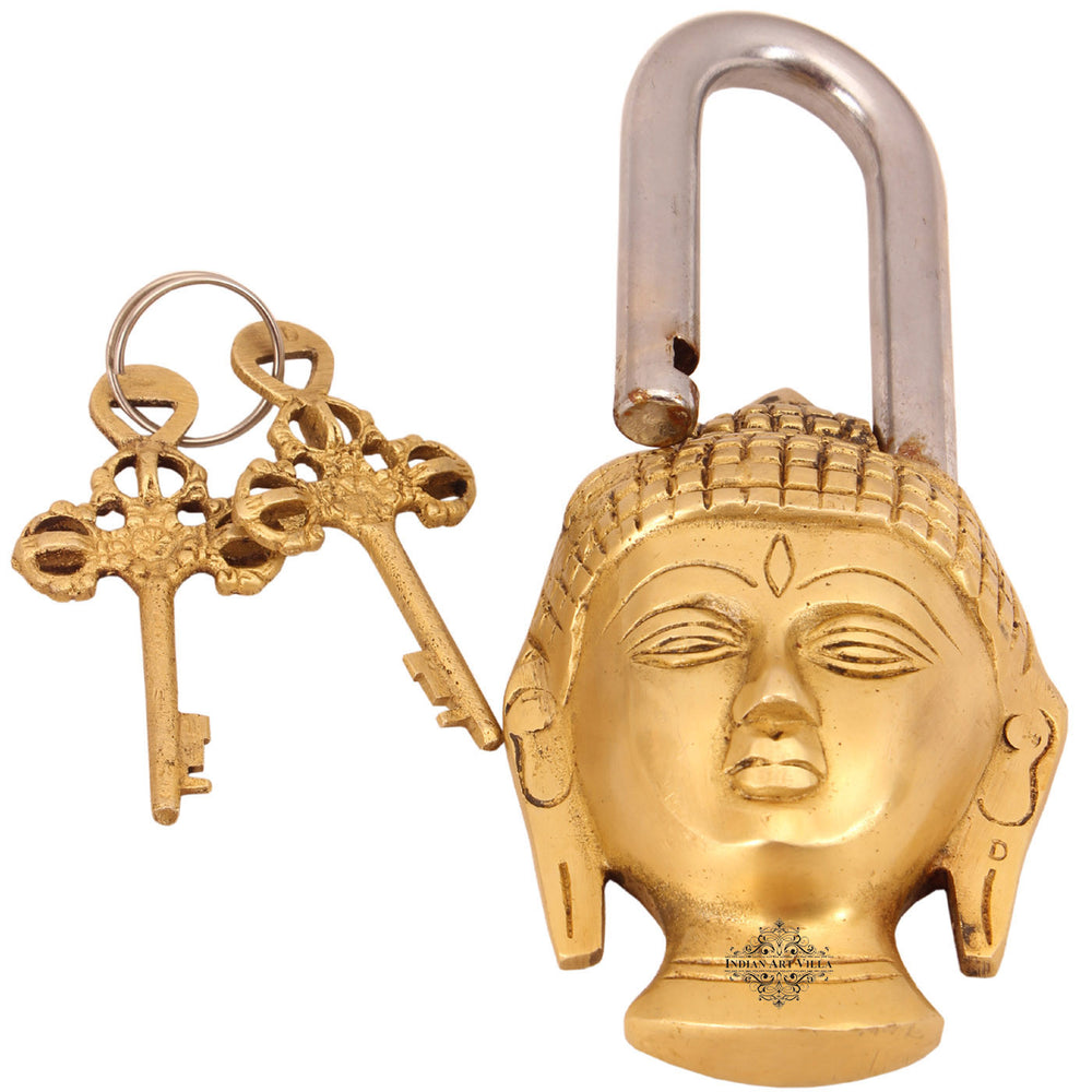 Brass Buddha Design Lock with 2 Keys
