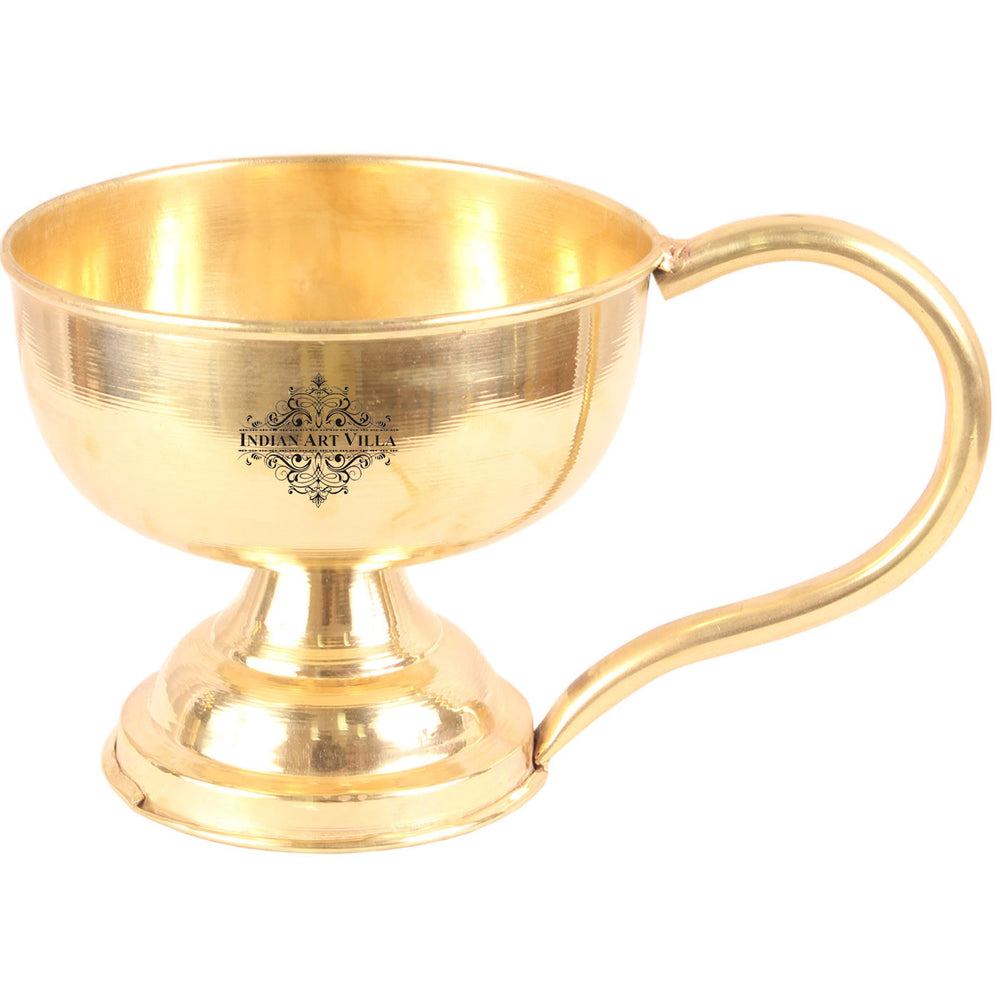 Brass Plain Diya Stand with Handle