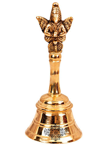 "Brass Designer Pooja Bell Ghanti, Poojan Purpose, Religious Gift Item, 4"" Inch, 5.3"" Inch, 6"" Inch"