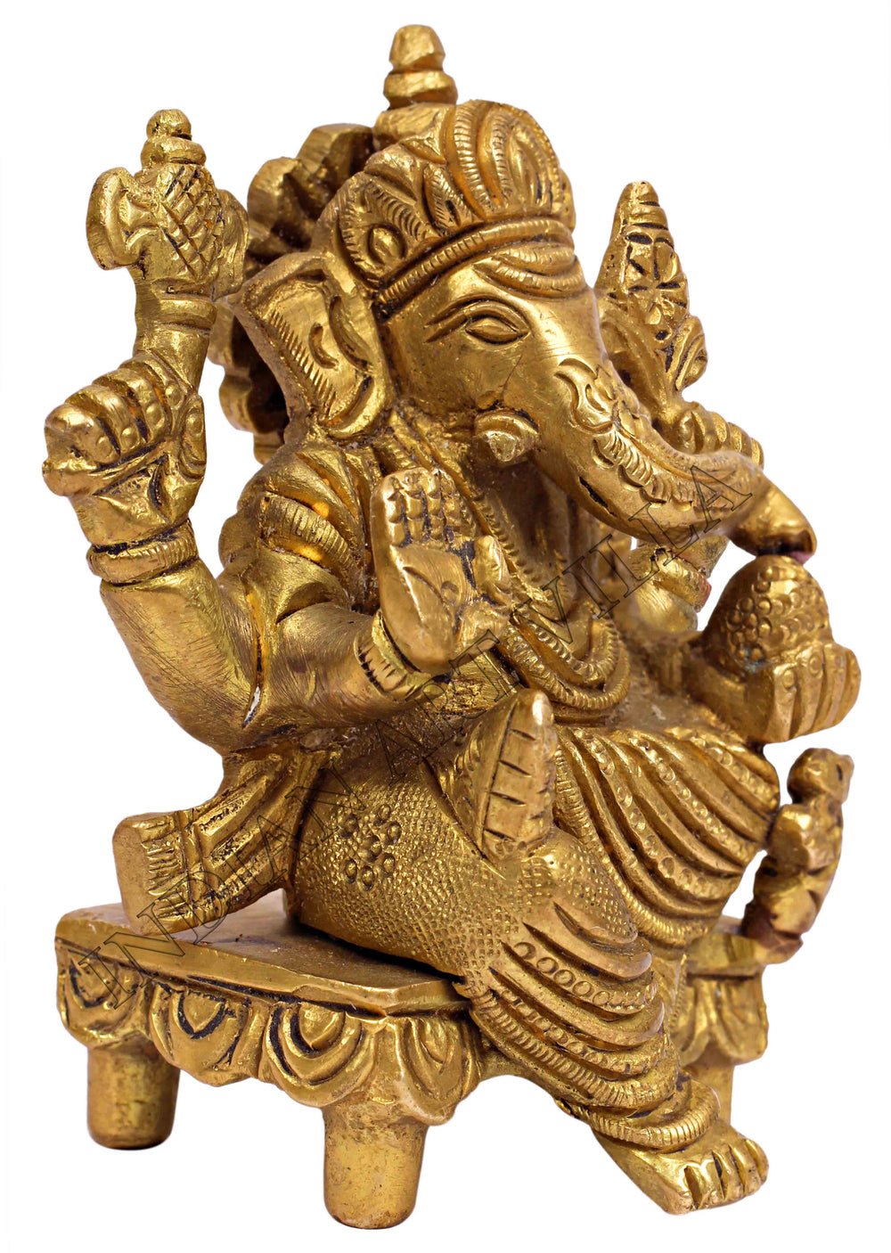 Brass Lord Ganesh Ji in Chair