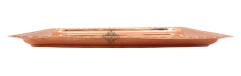 Pure Copper Engraved Flower Design Tray