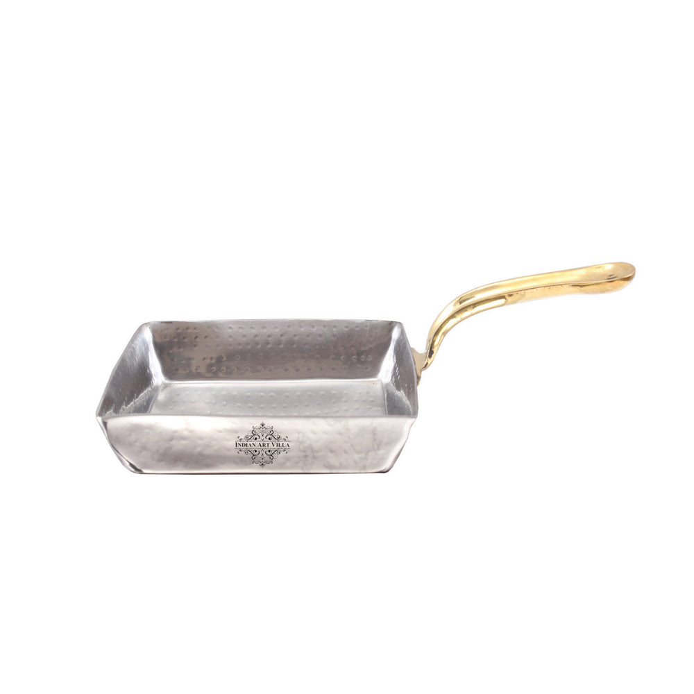 Steel Hammered Designer Pan with Brass Handle 500 ML