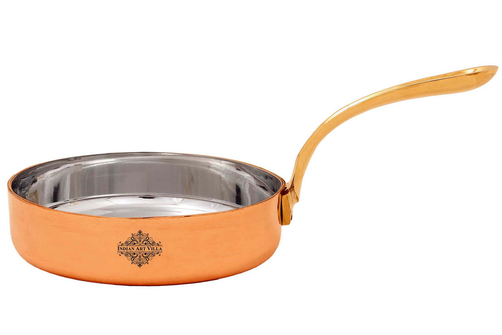 "Copper Pan With Tin Lining,4.8"" Inch"