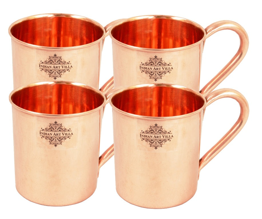 Copper Plain Design Moscow Mule Beer Mug Cup 415 ML Set of