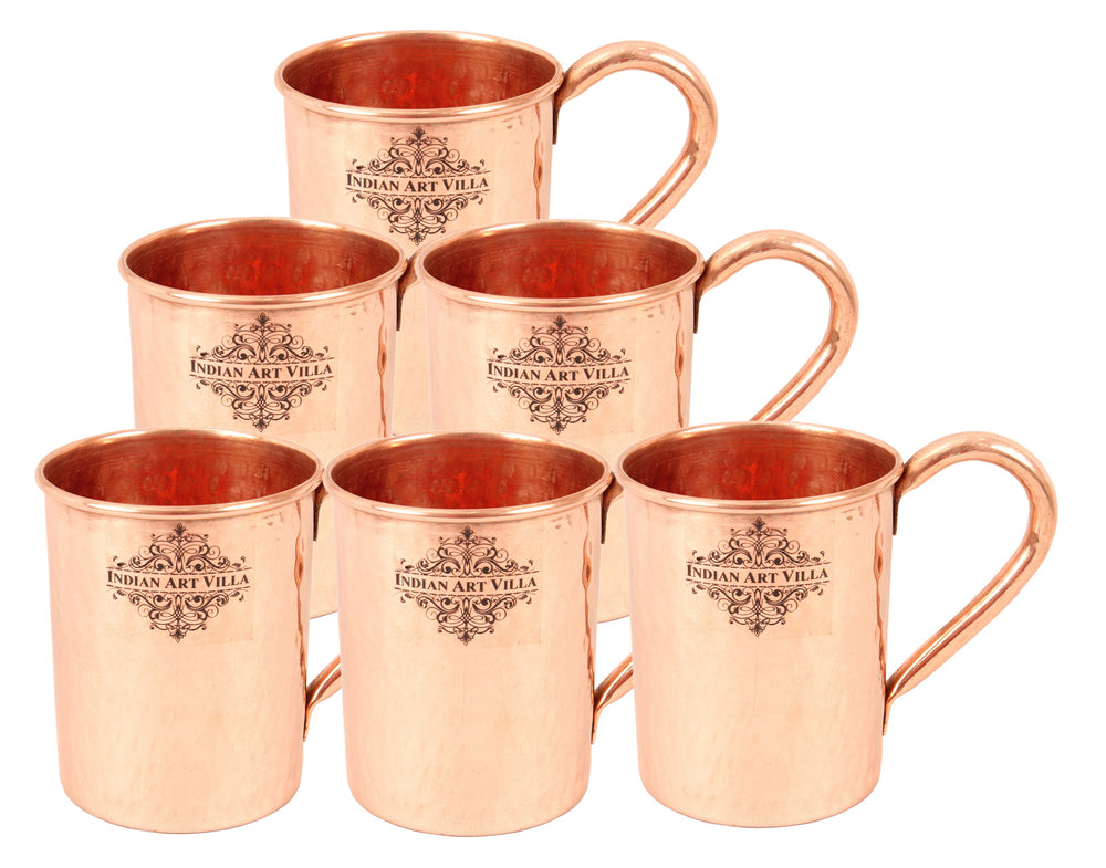 Copper Hammered Design Moscow Mule Beer Mug Cup 415 ML