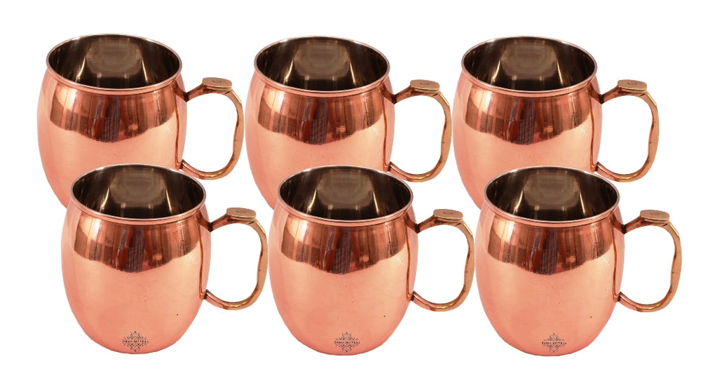 Steel Copper Moscow Mule Beer Mug Cup 530 ML