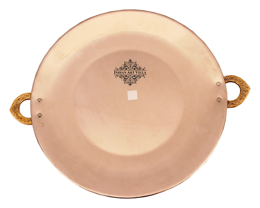 Steel Copper Serving Platter