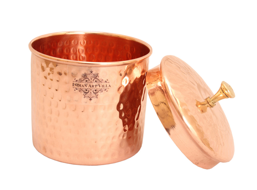 Copper Hammered Box, 950 ML