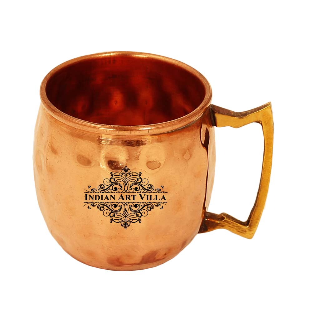 Copper Shot Mug, Hammered Design, Cup Serving Drinking Vodka Taquila Shots, 50 ML
