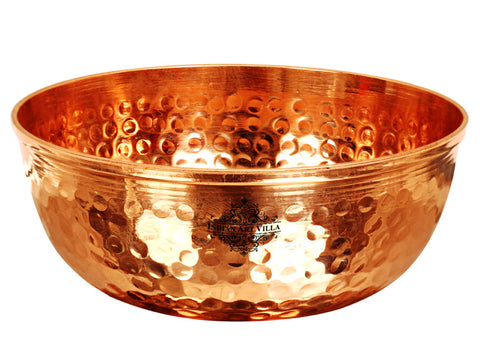 Copper Handmade Hammered Designer Bowl - 400 ML | 250 ML