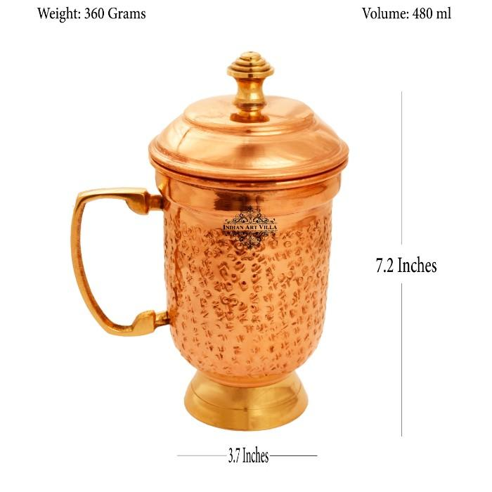 Copper Mug with Lid 480 ML