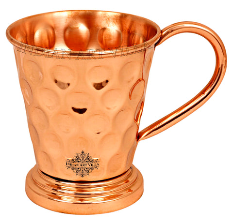 Copper Big Diamond Design Beer Mug with Stand - 450 ML