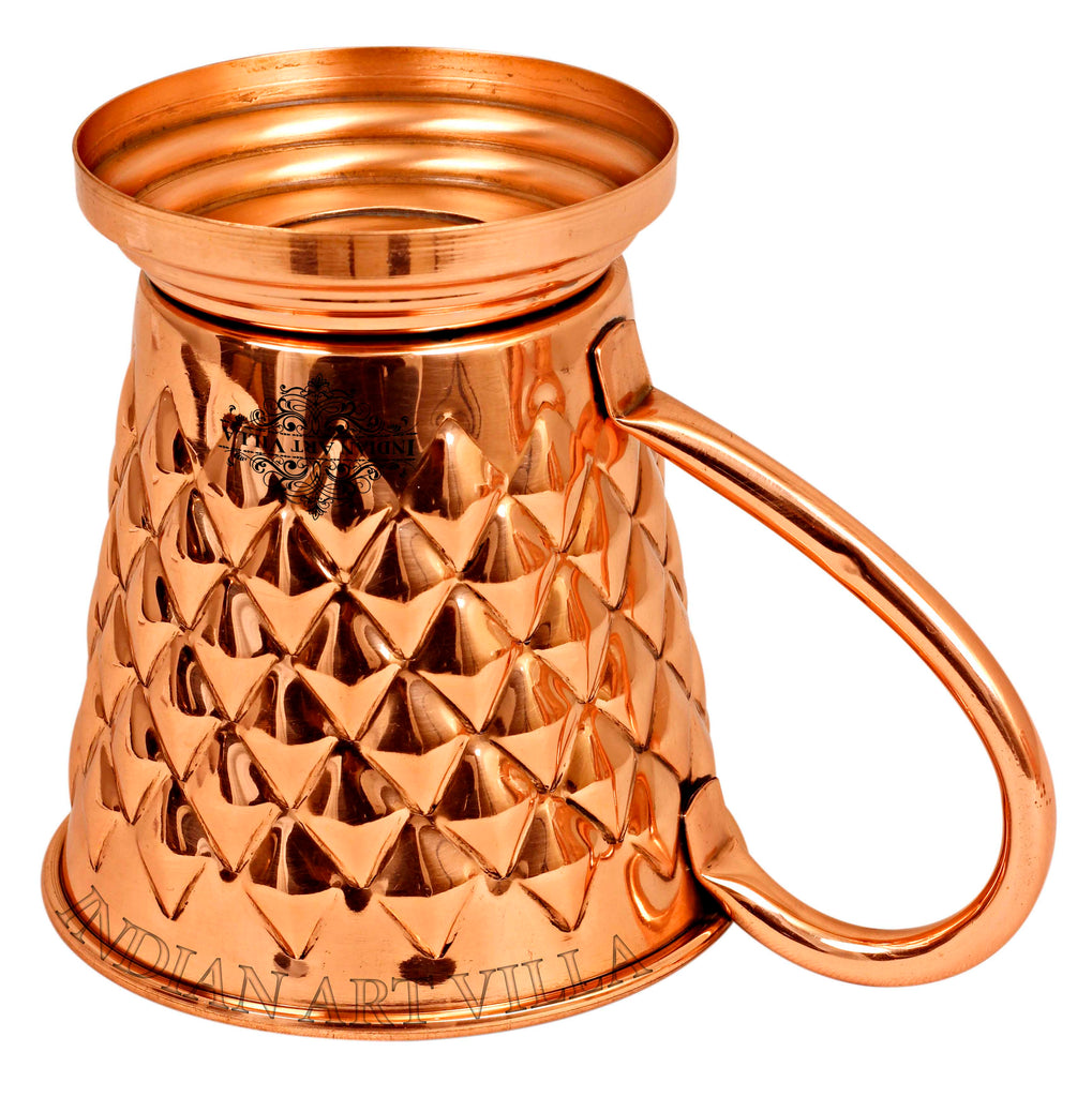 Copper New Diamond Design Beer Mug with Stand