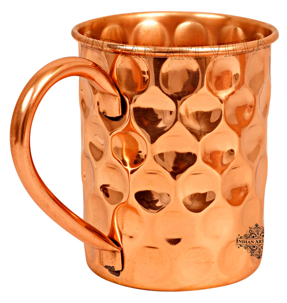Copper Big Diamond Design Beer Mug Cup