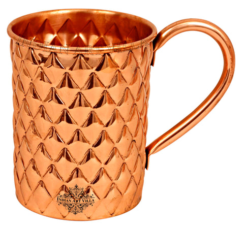Copper New Diamond Design Mug Beer Cup - 500 ML