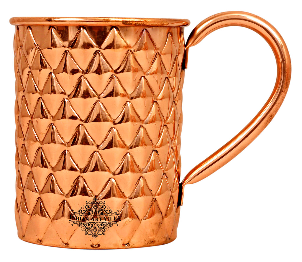 Copper New Diamond Design Mug Beer Cup