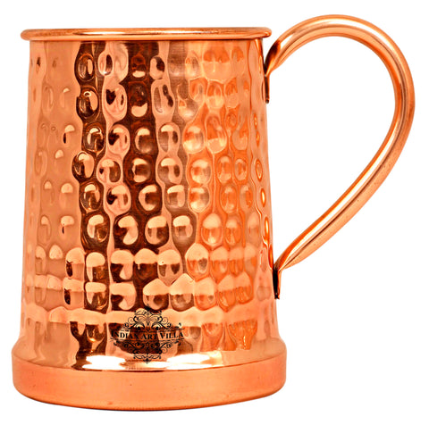 Copper Hammered Design Beer Mug - 650 ML