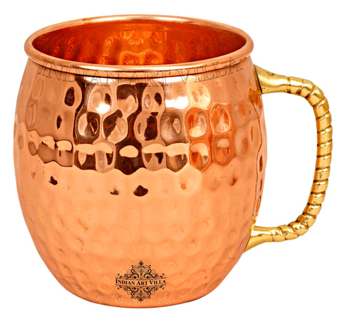 Copper Hammered Design Moscow Mule Beer Mug