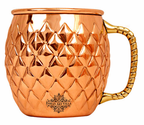 Copper New Diamond Design Moscow Mule Beer Mug - 600 ML