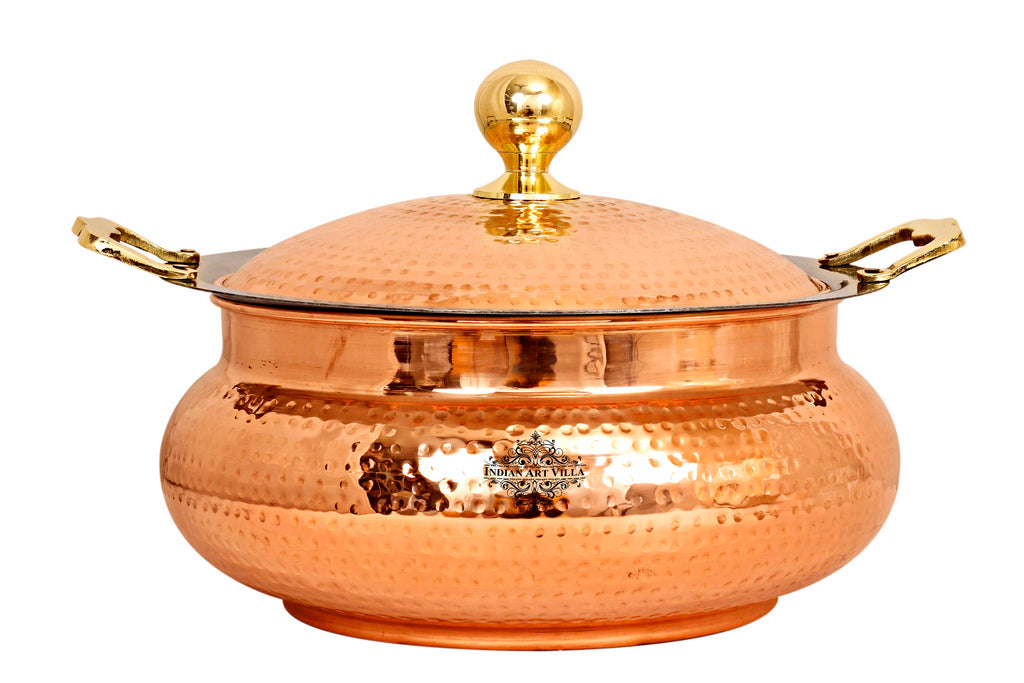 Steel Copper Chafing Dish & Brass Knob