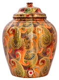 Copper Paisley design Water Pot Dispenser