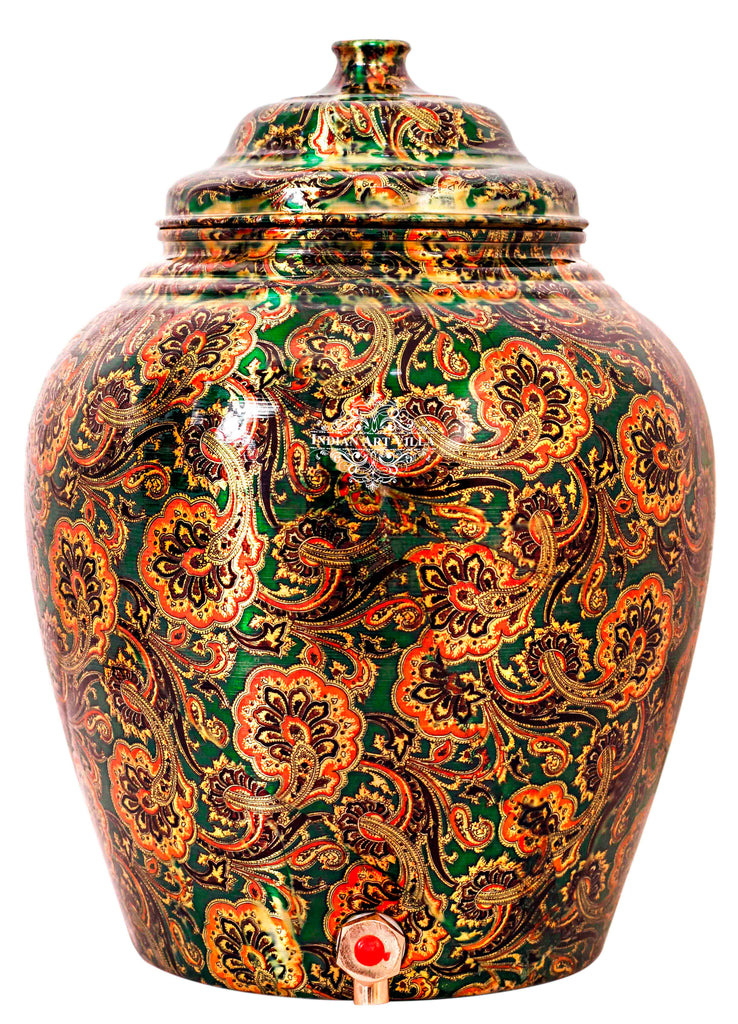 Copper Designer Bottle Green Water Pot