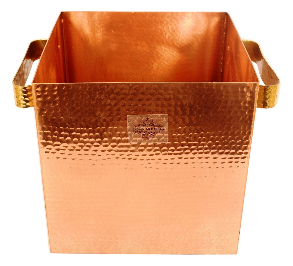 Copper Hammered Design Champagne Wine Cooler Ice Pot