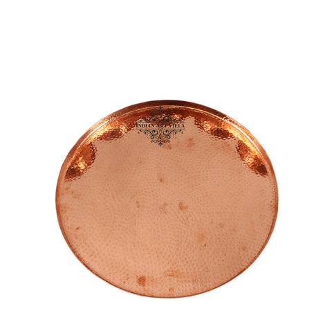 Handmade Hammered Pure Copper Serving Tray