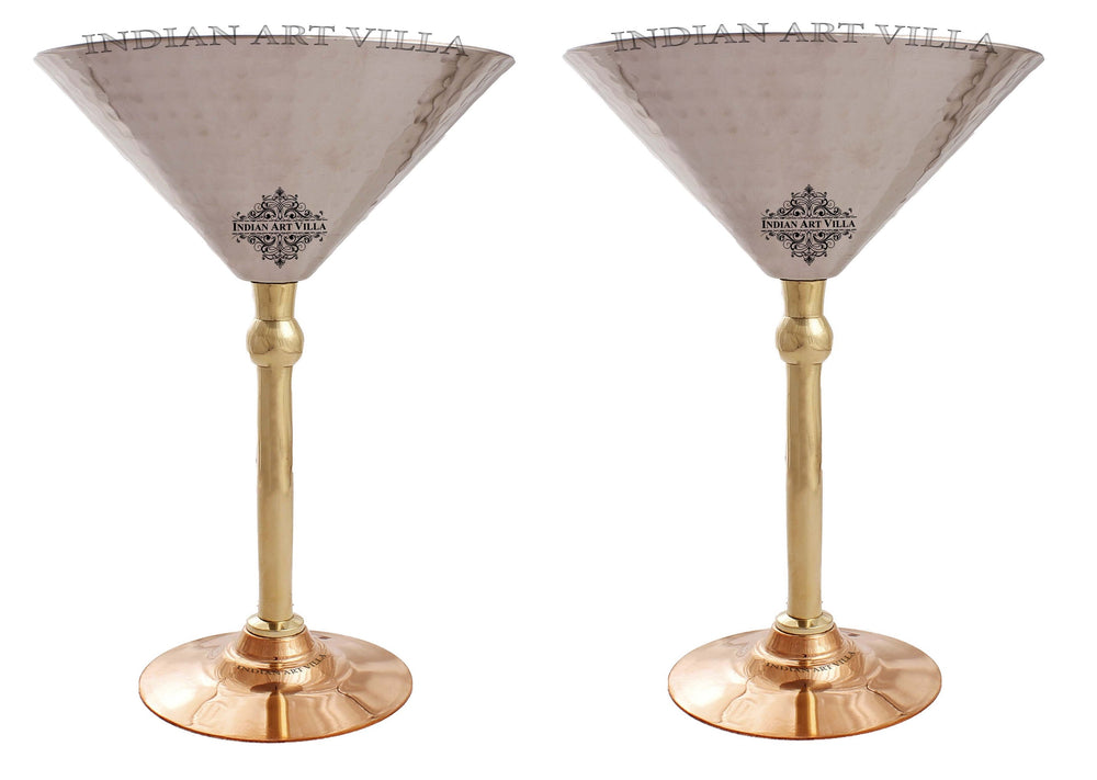 Steel Martini Glass with Copper Bottom