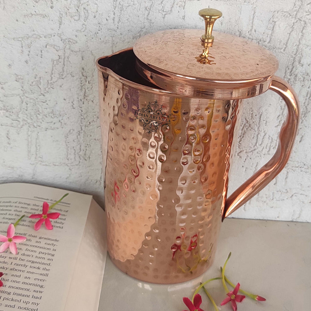 Pure Copper Jug, Hammerd Design, Storage Drinking water Pitcher