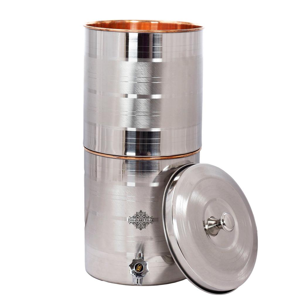 Steel Copper Luxury Design Water Pot Tank with Tap and Filter