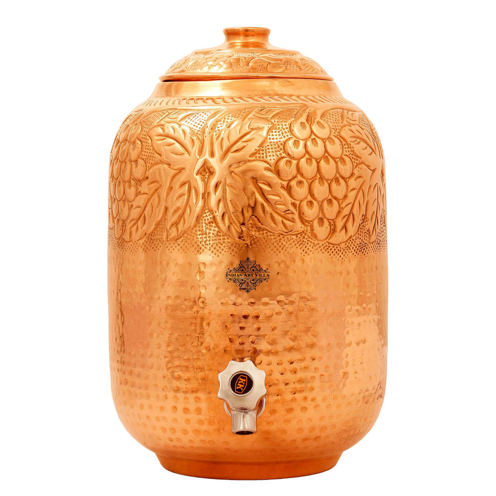 Copper water pot,copper matka,copper container,water storage,deisgner watar pot