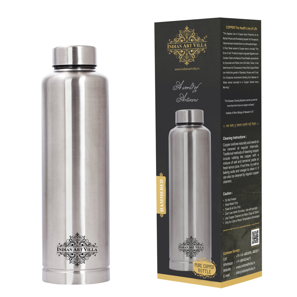 Steel Copper Water Bottle, Insulated Hot & Cold Bottle, Best for Summers, 700 ML