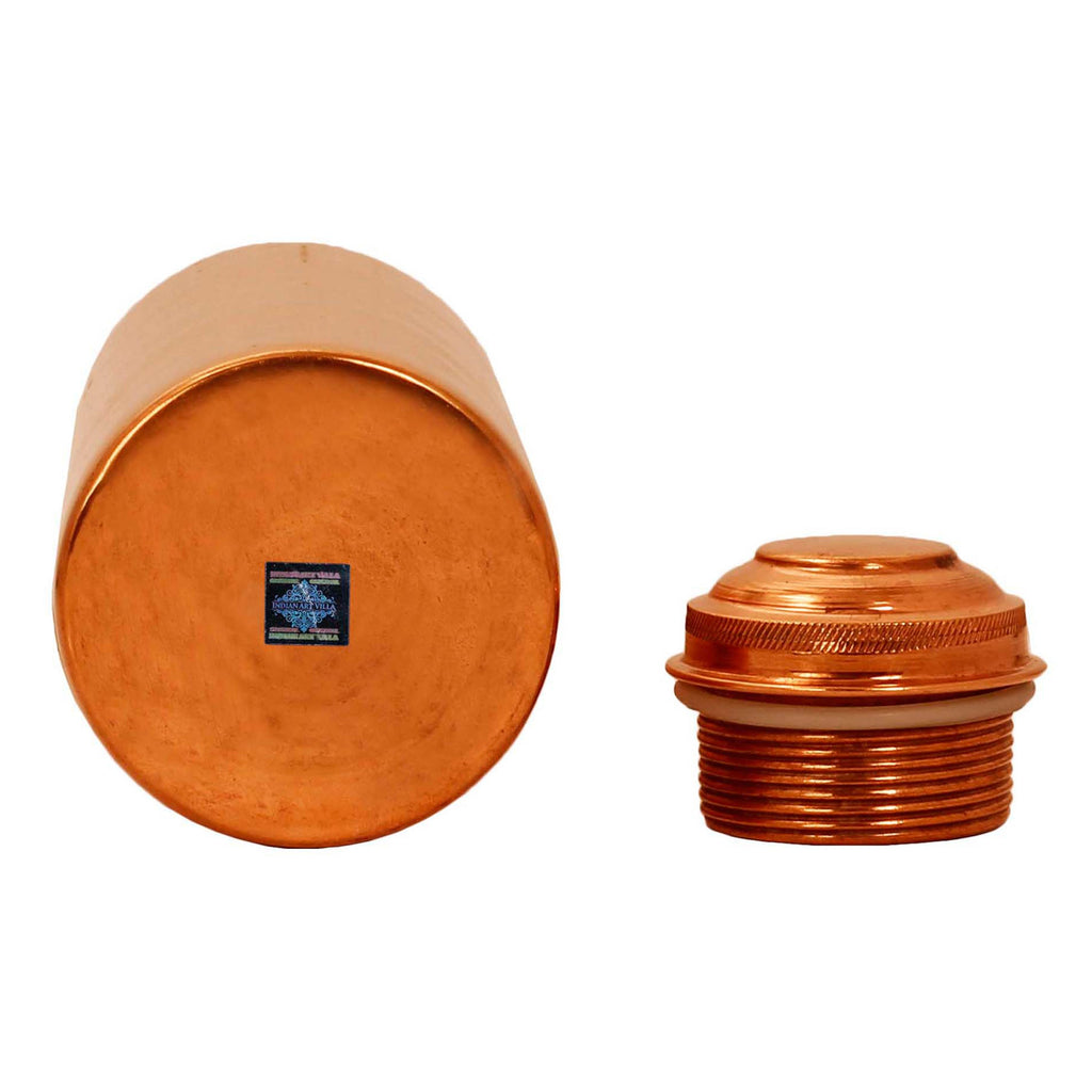 Pure Copper Leak Proof Water Bottle with New Lid