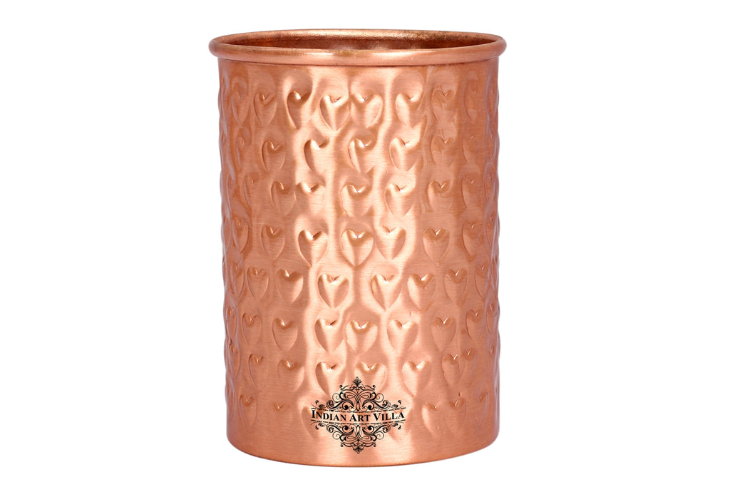 Copper Hammered Matt Finish Lacqour Coated Glass tumbler