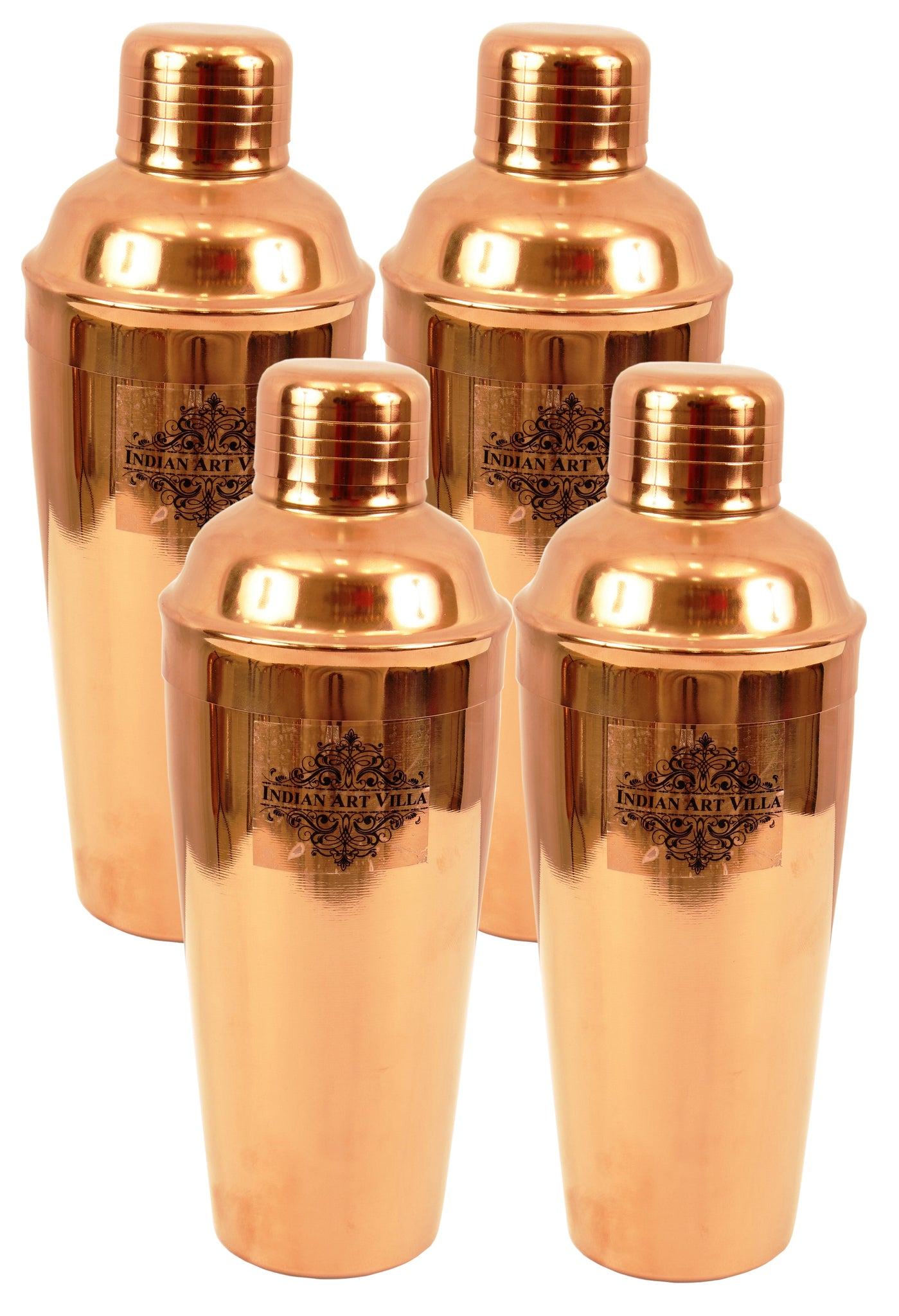 Copper Polish Steel Cocktail Wine Shaker 750 ML Set of
