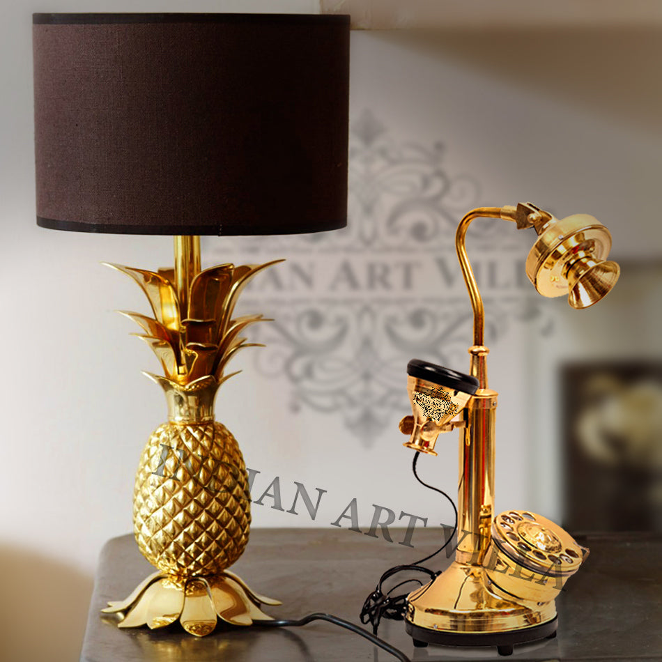 Brass Golden Candle Stick Phone - Long neck Design