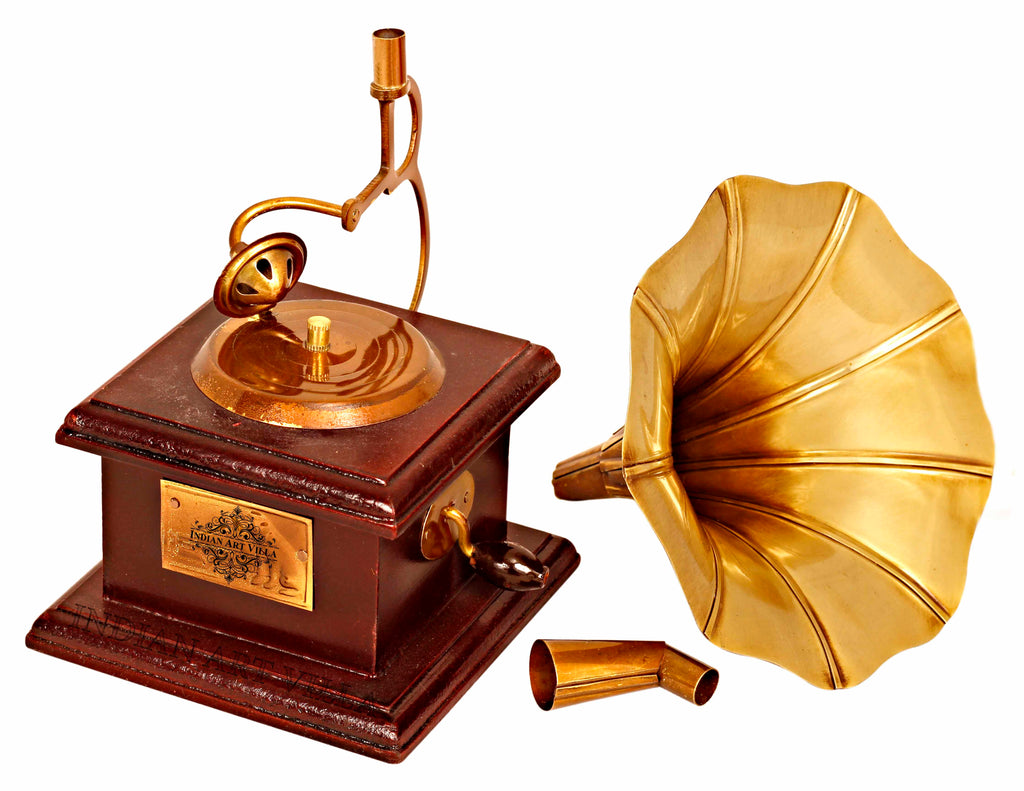 Brass Dummy Sqaure Gramophone Phonograph