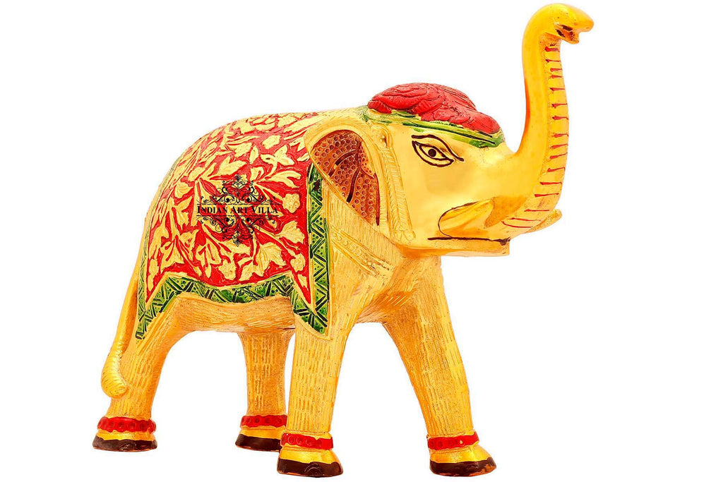 "Aluminium Elephant Showpiece, Height:- 8.2"" Inch"