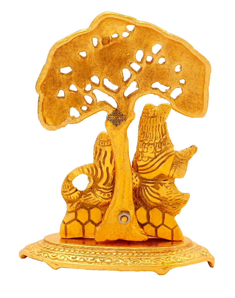 "Aluminium Radha Krishna Idol, Showpiece, For Home Decoration And Gift Purpose, Height:- 6.6"" Inch,  Gold"