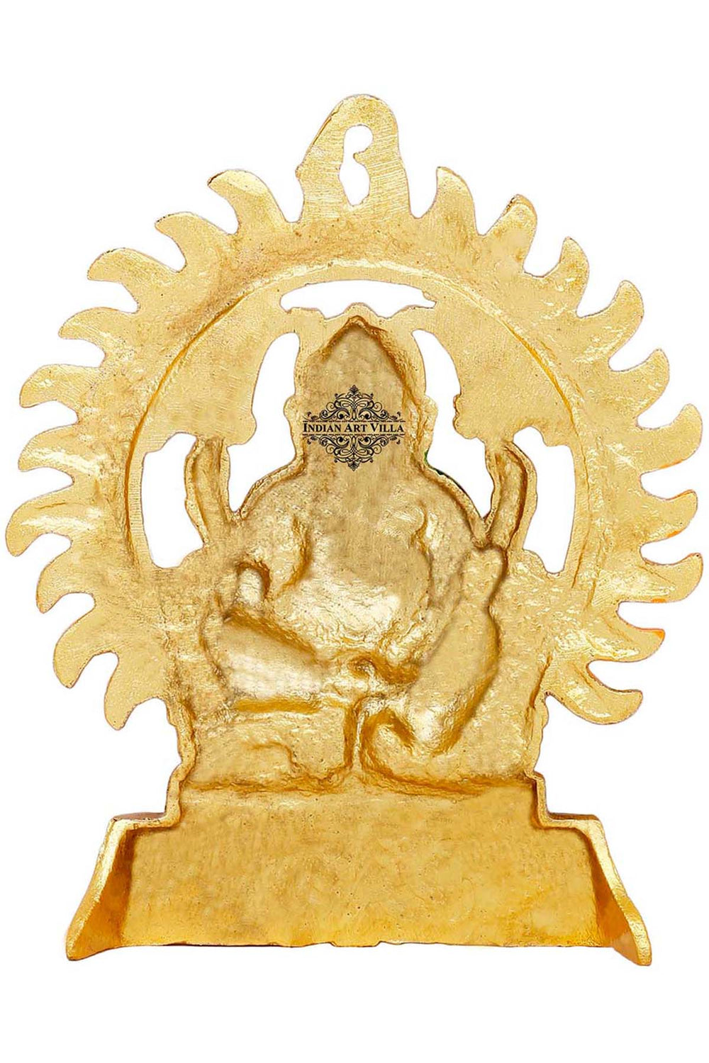 "Aluminium Lord Ganesh Ji, Wall Hanging, Spiritual Idol, Showpiece, Height :- 8.6"" Inch"