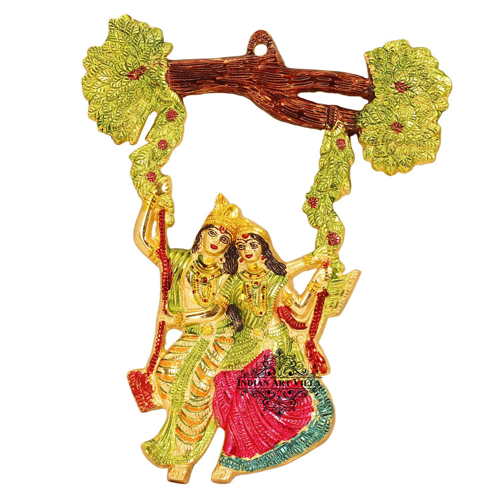Handicrafted Radha Krishna Swing Wall hanging,Home Décor,Room Décor,Wall Decor