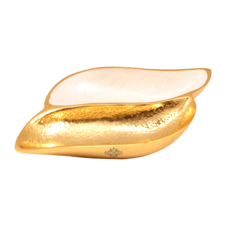 Aluminium Dry Fruit Tray | Serving Storage Dry Fruit Decorative | Length 11 Inch