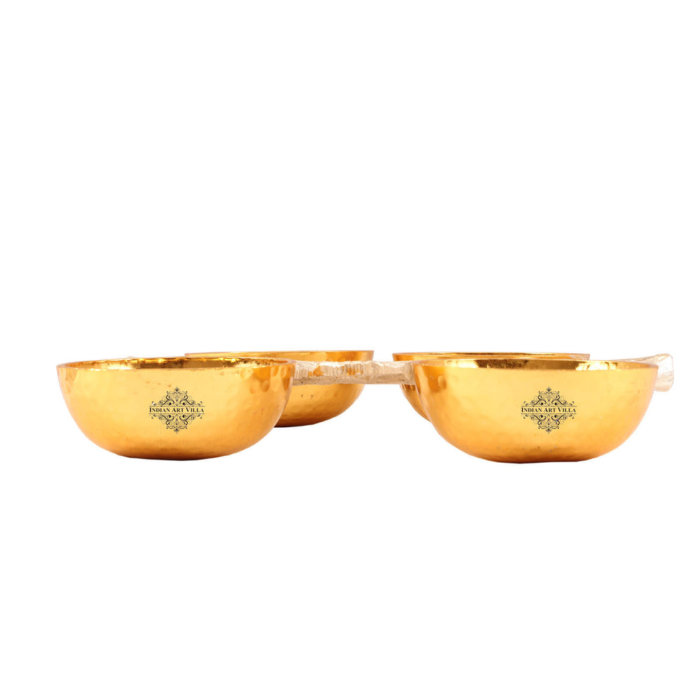 Aluminium Set of 4 Bowl with Bough Design Handle