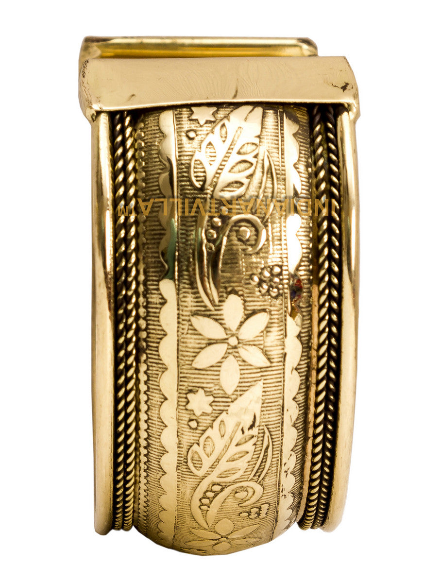 Brass Flower Design Kada - 3.5 cms