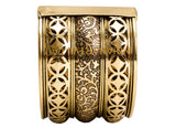 Brass Star Design Kada - 5 cms