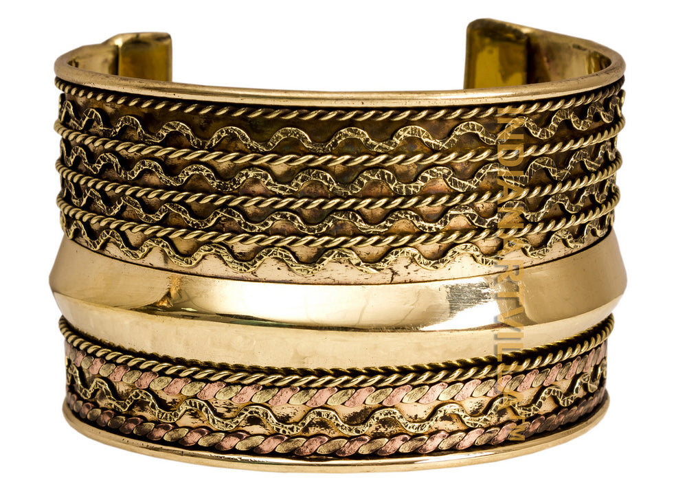 Brass Curved Line Design Kada - 5 cms