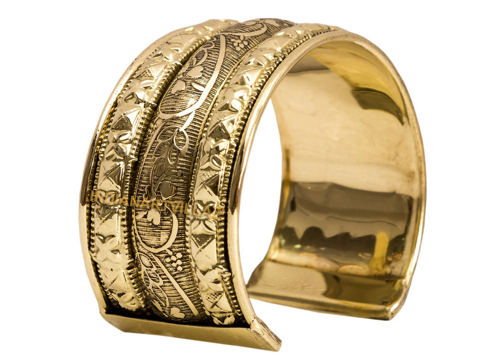 Brass Leaf Design Kada - 3.5 cms